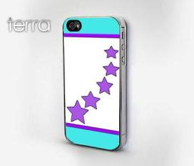 NEW iphone 5 case iphone 5 cover Geometric Mint & Purple Stars DesignCool iPhone Cases- Cool iPhone Cases