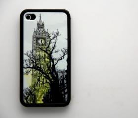 Vintage London Big Ben iPhone 4 and iPhone 4S Rubber Case