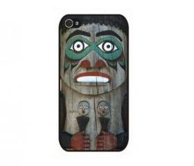 Wooden Indian Totem iPhone 4 and iPhone 4S Rubber Case