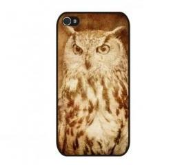 Vintage Grunge OWL iPhone 4 and iPhone 4S Rubber Case