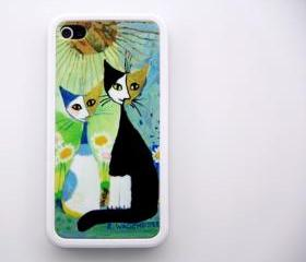 Vintage Cat Printing iPhone 4 and iPhone 4S Case Hard Plastic Case and Rubber Case
