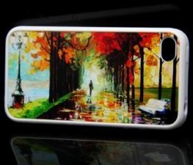 Landscape Painting Style iPhone 4 and iPhone 4S Rubber Case