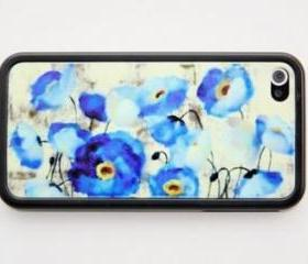 Floral painting style iPhone 4 and iPhone 4S Rubber Case