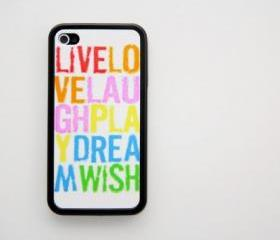 Live Love Laugh Graffiti iPhone 4 and iPhone 4S Rubber Case