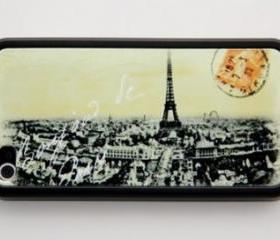 Vintage Paris iPhone 4 and iPhone 4S Rubber Case
