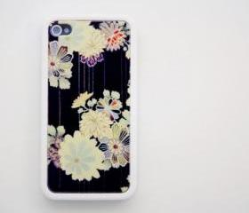 Retro floral pattern iPhone 4 and iPhone 4S Rubber Case