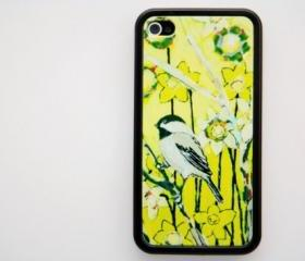 Retro OWL floral pattern iPhone 4 and iPhone 4S Rubber Case