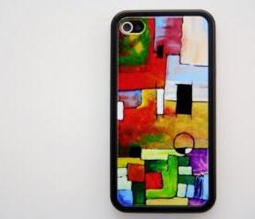 Abstract Pattern iPhone 4 and iPhone 4S Rubber Case