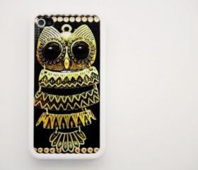 Vintage OWL iPhone 4 and iPhone 4S Rubber Case