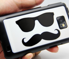 Mustache Design Galaxy S2 i9100 Hard Cover Case