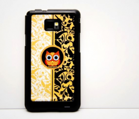 Vintage OWL Galaxy S2 i9100 Hard Cover Case