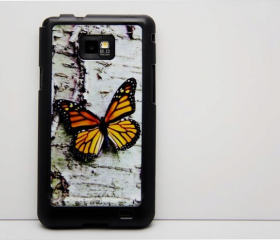 Vintage Butterfly Galaxy S2 i9100 Hard Cover Case