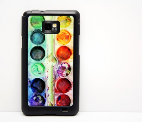 Artist Palette Set Galaxy S2 i9100 Hard Cover Case