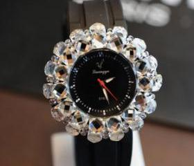 Bling crystal watch, fashion wome watches, bling rhinestone watch