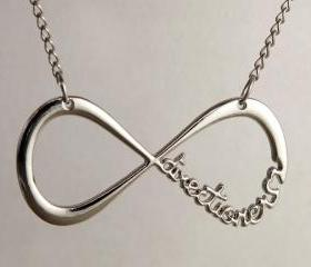 One Direction Infinity Charm Silver Necklace