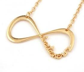 One Direction Infinity Charm Golden Necklace