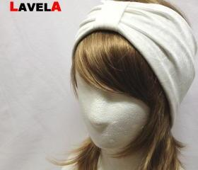 Ivory Plain color-headband