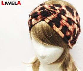 Leopard twist turban headband/Knit