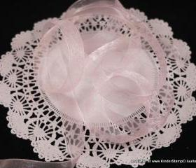 5 yards - 5/8 inch Organza Ribbon - Baby Pink