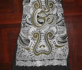 Long Sleeveless Dress OM Hindu Boho Hamsa Yoga Clothing Buddha Tee