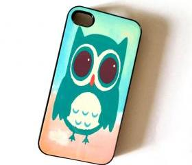 Sale Owl iPhone 4/4S Accessory Case Mint Owl Plastic Case
