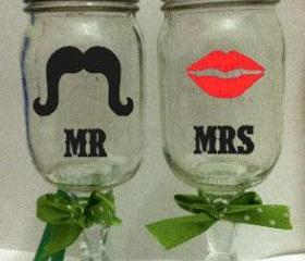 Mr & Mrs redneck wine glass's