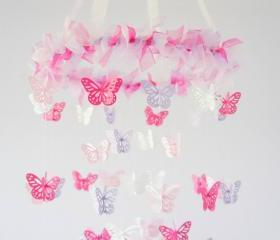 Butterfly Mobile- Pink & Lavender Nursery Mobile