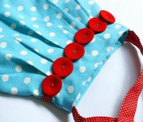 Lovely Kids Bag Blue polka dot