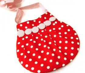 Lovely Kids Bag red polka dot