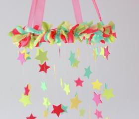 Bright Stars Nursery Mobile- Crib Mobile, Baby Mobile, Star Nursery Decor