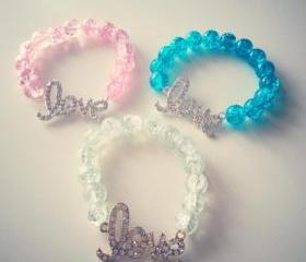 Rhinestone Love Bracelet
