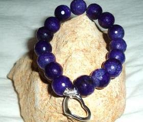 Purple Agate Stretchy Bracelet