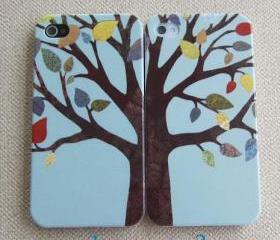 iPhone 4s Case/Tree iPhone 4,4s Cover/Hard Plastic Case/dream tree iphone case/blue 4s cover/gift for her