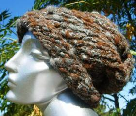 Smokey Chestnut Slouchy 100% Alpaca/Llama