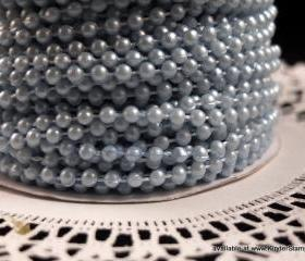 5 yards - 4mm Pearls - Sky Blue