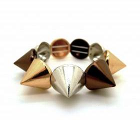 Multi-Colored Metallic Spikes Bracelet