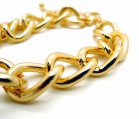 Vintage Gold Chain Bracelet