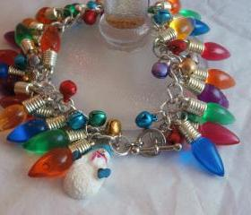 Christmas Lights and Bells Bracelet - Reserved!