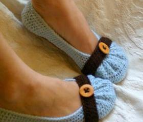 Crochet Pattern for Cute as a Button House slipper Pattern number 111