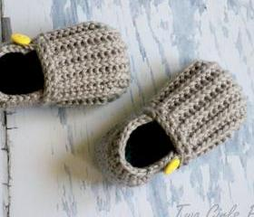 Crochet Pattern for 'Jake' Loafers - Toddler Sizes 4-9 - Crochet Pattern number 115