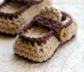 Boy Button Loafer Crochet Pattern for 'Button Loafers Booties' Pattern number 112