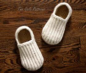 Crochet Pattern for Mens House Shoes the Lazy Day Loafers Crochet Pattern 105 - Includes U.S. big boys sizes 3-7 and mens sizes 8-13