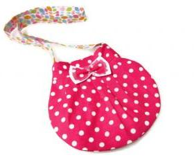 Lovely Kids Bag Pink polka dot