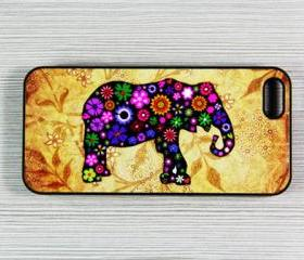 Vintage Elephant iPhone 5 Case,Rubber Case or Hard Plastic Case