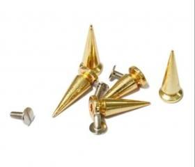 50pcs 25mm Gold Metal Bullet Studs Rivets Spikes Punk Rock Leathercraft DIY Studs