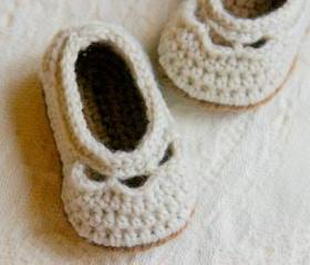 Crochet Baby Booties Pattern For Baby Yoke Ballet Slipper PDF Crochet Pattern Pattern number 109