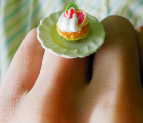 Handmade Cupcake Ring