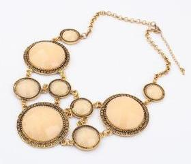 Ivory/beige bubble necklace,Beautiful Necklace, bubble necklace,bib necklace,bib Bubble Necklace,bridesmaid gifts,Christmas gift