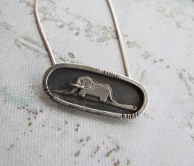 Little prince Elephant Drawing-Sterling silver