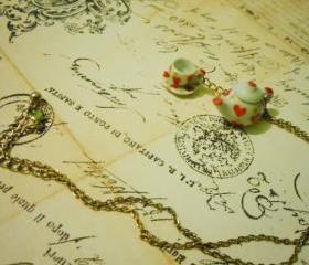 Valentine Teapot and Cup Necklace